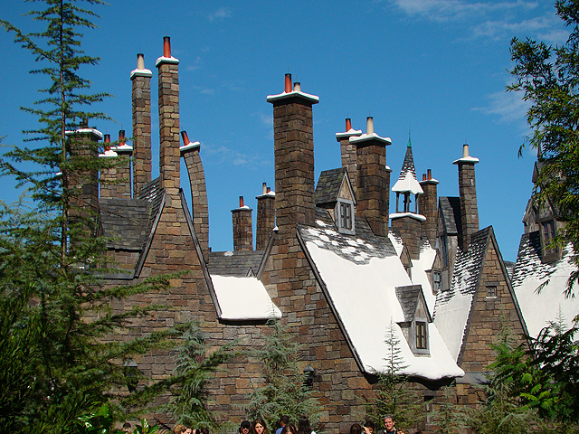 The rooftops of Hogsmeade