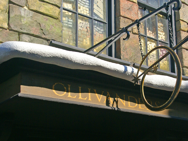 Ollivanders where the wand chooses it's owner