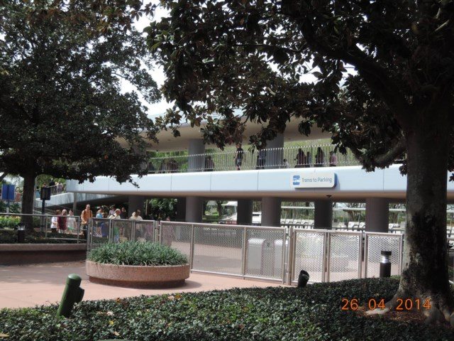Arriving on the Monorail