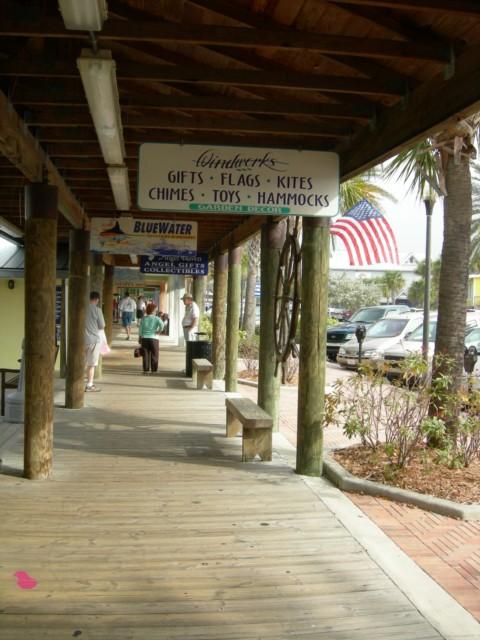 Lots of quaint shops at the boardwalk
