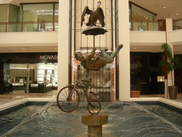 Amusing statue in fountain