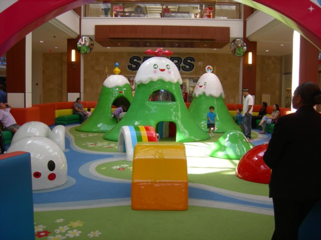 Fun area for children in front of Sears