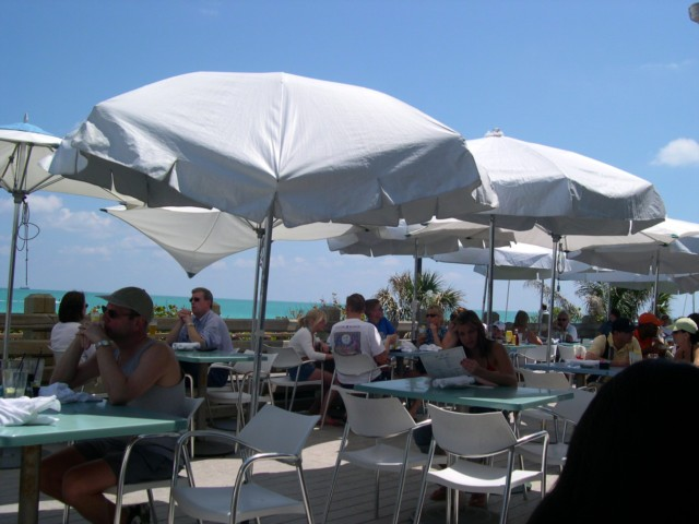 Enjoy lunch on a terrace overlooking the sea