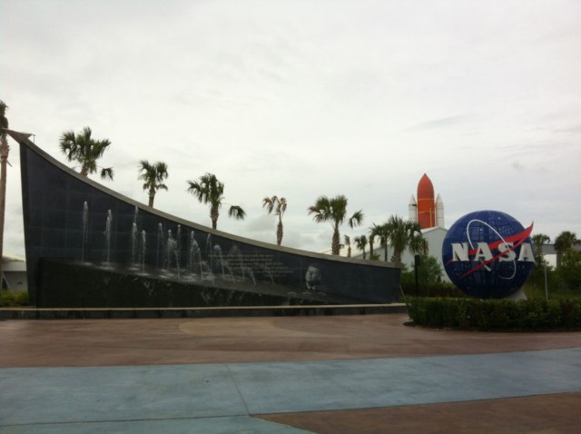 The new entrance to KSC
