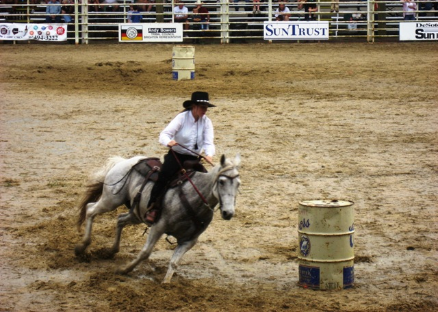 Barrel racing for the cowgirls