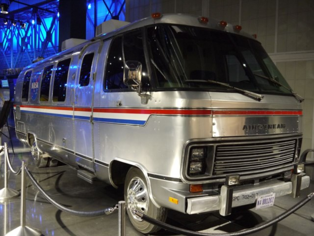 The van that carried astronauts to the launch pad