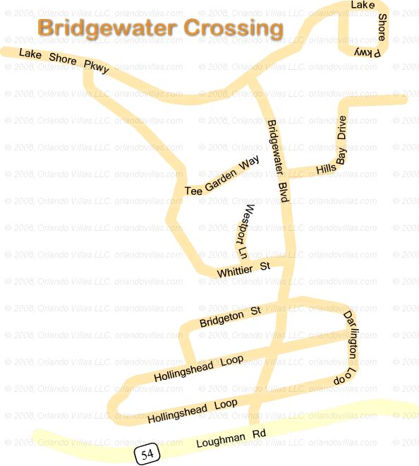 Bridgewater Crossing community map