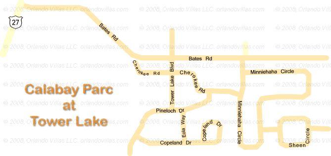 Calabay Parc at Tower Lake community map
