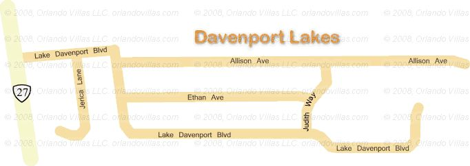 Davenport Lakes community map