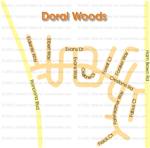Doral Woods community map