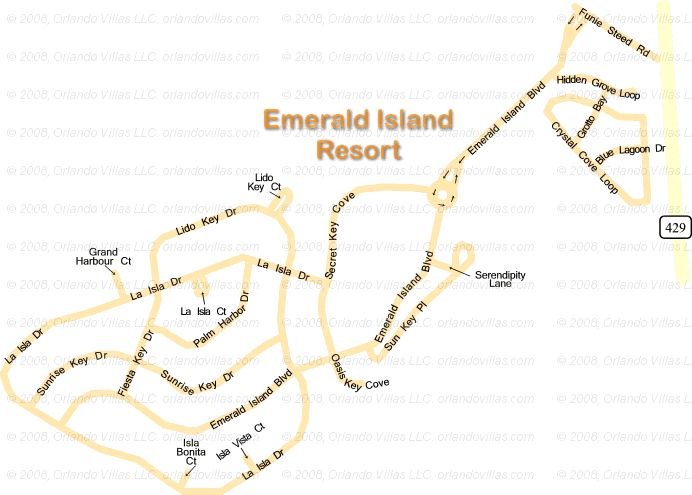 Emerald Island community map