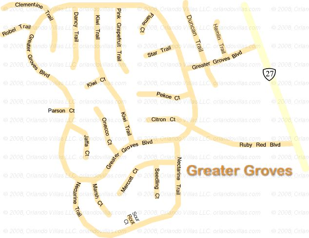 Greater Groves community map