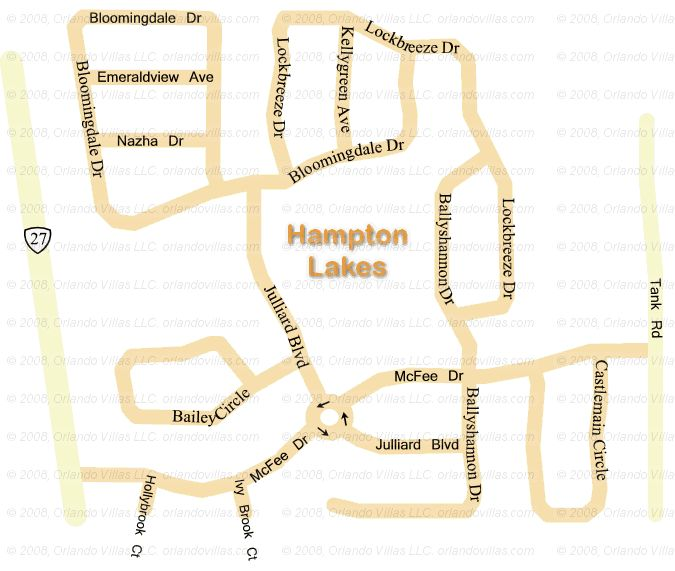 Hampton Lakes community map