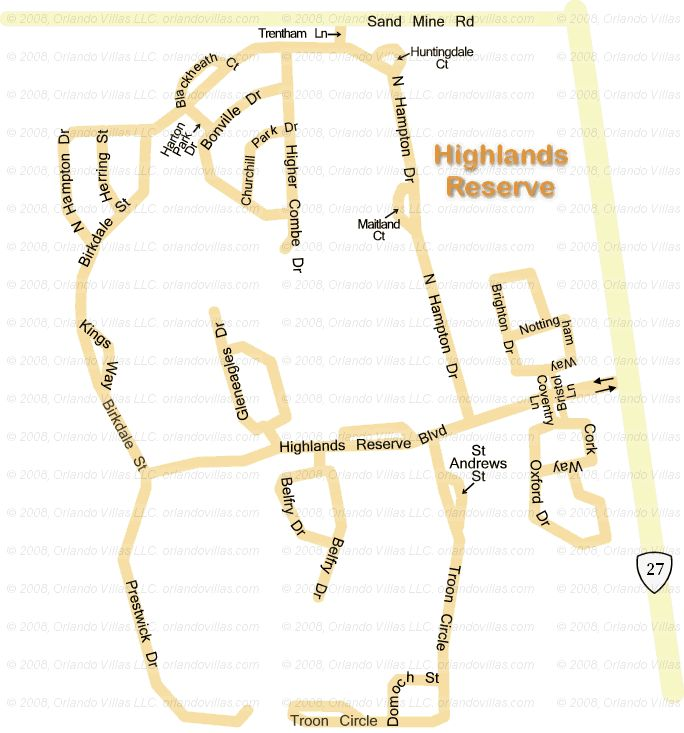 Highlands Reserve community map