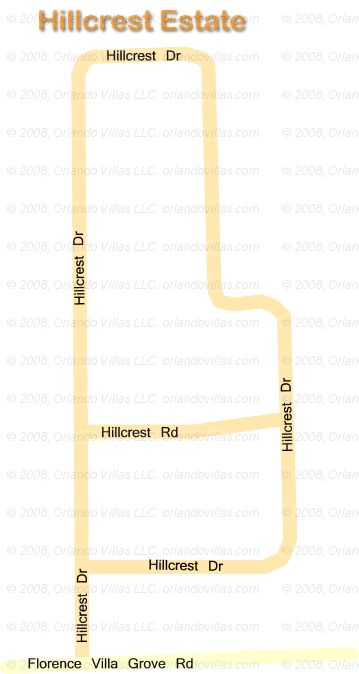 Hillcrest Estate community map