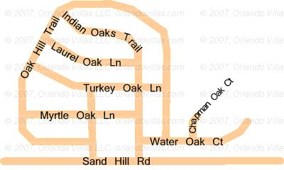 Indian Ridge Oaks community map