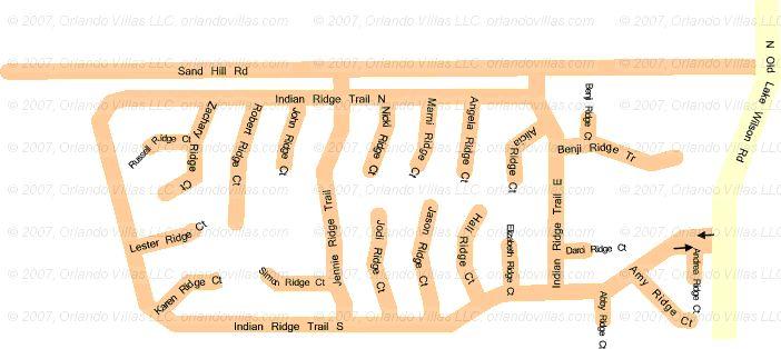 Indian Ridge community map
