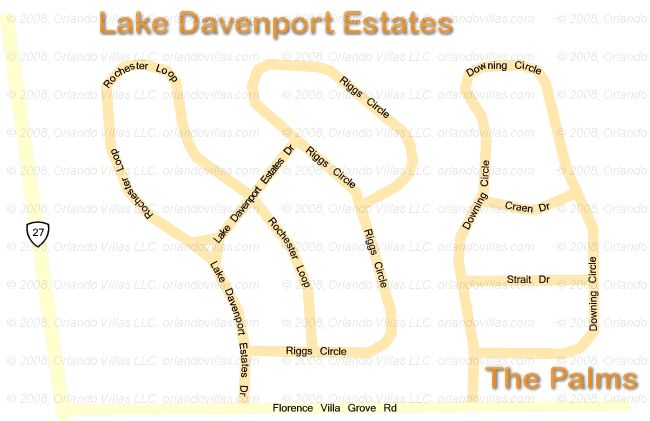 Lake Davenport Estates community map