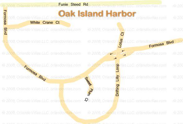 Oak Island Harbor community map