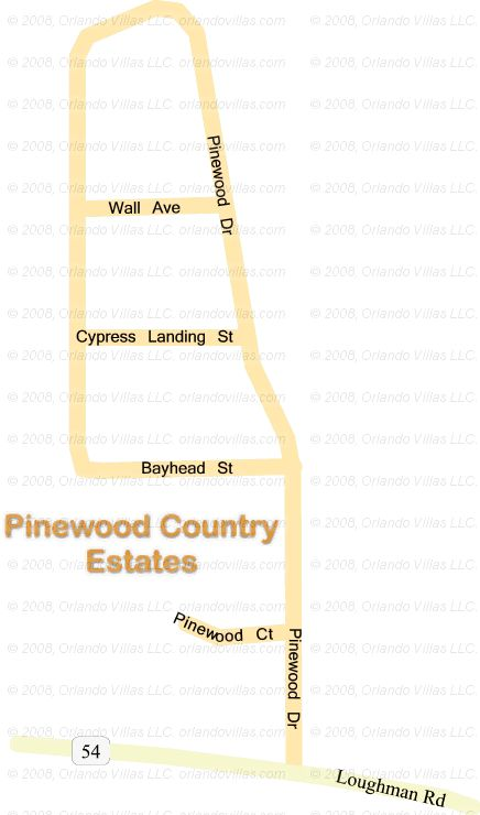 Pinewood Country Estates community map