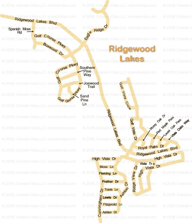Ridgewood Lakes community map