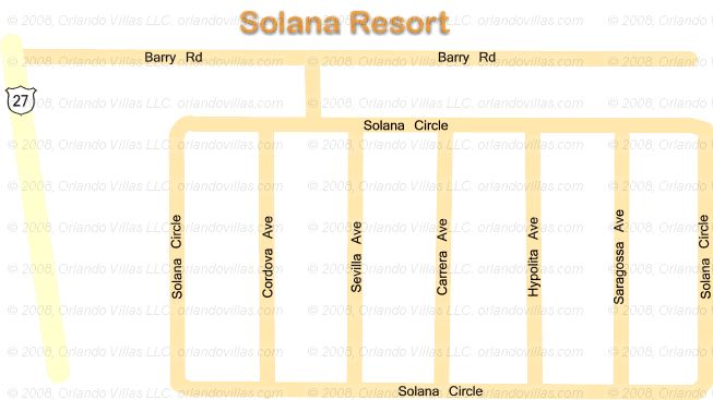 Solana Resort community map