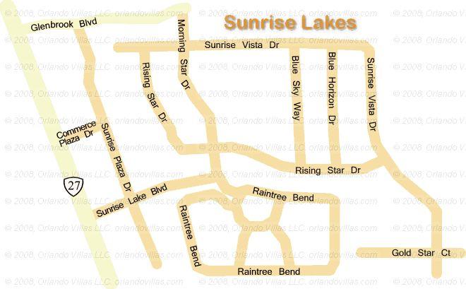 Sunrise Lakes community map