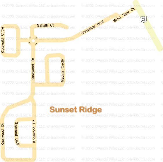 Sunset Ridge community map