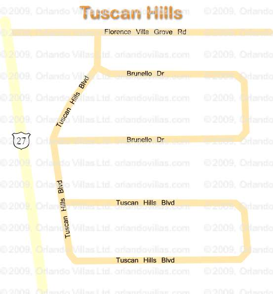 Tuscan Hills community map