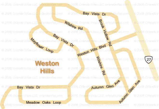 Weston Hills community map