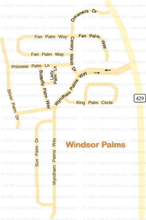 Windsor Palms Resort community map